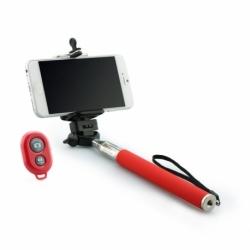 Selfie Stick Universal cu Bluetooth (Rosu) Blun