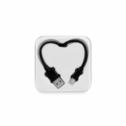 Cablu Date & Incarcare MicroUSB - Heart (Negru)