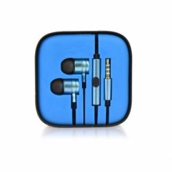 Casti Telefon Metal (Albastru) Box