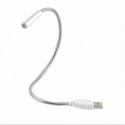 Lampa Laptop Metalica Flexibila (Argintiu)