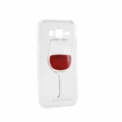 Husa SAMSUNG Galaxy J5 - 3D (Wine Glass Rosu)