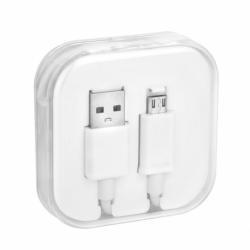 Cablu Date & Incarcare MicroUSB (Alb) Box