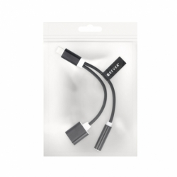 Adaptor 2&1 APPLE iPhone 7 (Negru)