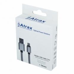 Cablu Date & Incarcare Textil APPLE Lightning (Argintiu) ATX