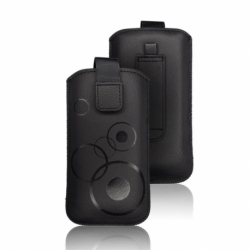 Husa APPLE iPhone 5/5S/SE - Deko (Negru) Tip Sac