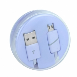 Cablu Date & Incarcare MicroUSB Ring (Violet) Box