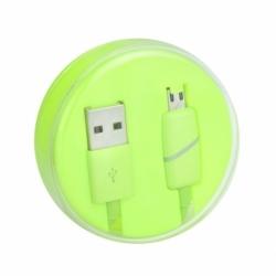 Cablu Date & Incarcare MicroUSB Ring (Verde) Box