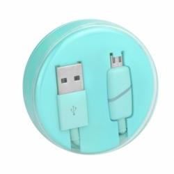 Cablu Date & Incarcare MicroUSB Ring (Menta) Box