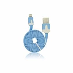 Cablu Date & Incarcare Plat APPLE Lightning (Albastru) 1 Metru