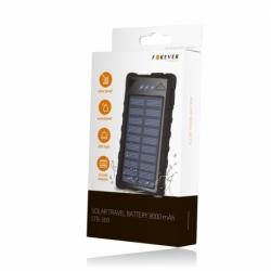 Baterie Externa cu Incarcare Solara & USB 8000 mAh (Negru) STB-300 Forever