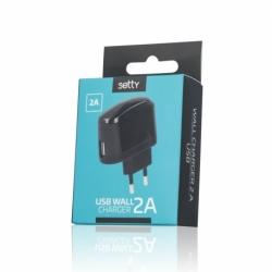 Incarcator Universal 2A - Doar Priza (Negru) Setty