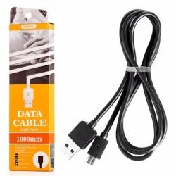 Cablu Date & Incarcare MicroUSB - 1 Metru (Negru) RC-06M REMAX