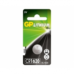 Baterie GP Lithium 3V CR1620-7C5 (? 16 x 2mm)