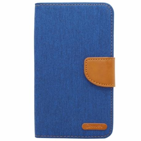 """Husa Universala (5"""") - Canvas Book (Albastru)"""