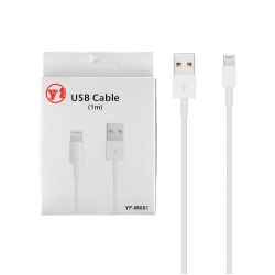 Cablu Date & Incarcare APPLE Lightning (Alb) YF-MX01