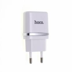 Incarcator 2.4A cu 2 Porturi USB - Doar Priza (Alb) C12 HOCO