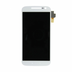 Display + Touchscreen si Rama LENOVO Moto G4 (Alb)