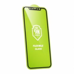 Folie 5D Flexibila APPLE iPhone XR ( Negru) Nano Full Glue
