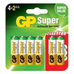 Baterii SuperAlcaline (Tip AA) - Set 6 Bucati (LR6)