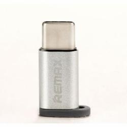 Adaptor MicroUSB - Tip C (Argintiu) REMAX Feliz