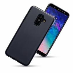 Husa SAMSUNG Galaxy A6 Plus 2018 - Jelly Mat (Negru)