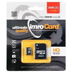 Card MicroSD 128GB + Adaptor Clasa 10 IMRO