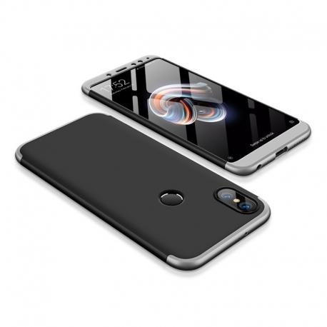 Husa XIAOMI RedMi Note 5 / Note 5 Pro - 360 Grade (Negru/Argintiu)