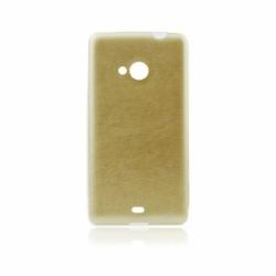 Husa APPLE iPhone 4/4S - Jelly Piele (Auriu)