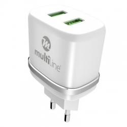 Incarcator Universal 2.4A + Cablu Tip C (Alb) MultiLine