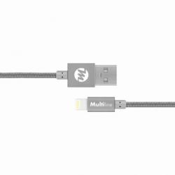 Cablu Date & Incarcare APPLE Lightning - 120cm (Gri) MultiLine
