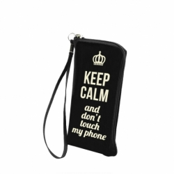 "Husa Universala 5.5"" (Keep Calm and Don't Touch My Phone)"
