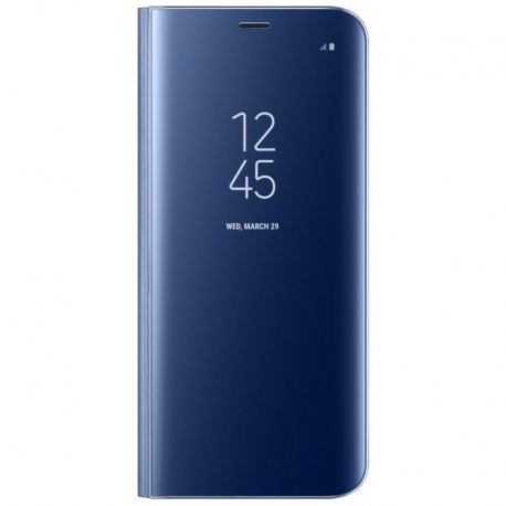 Husa SAMSUNG Galaxy S9 Plus - Flip Wallet Clear (Bleumarin) Blister