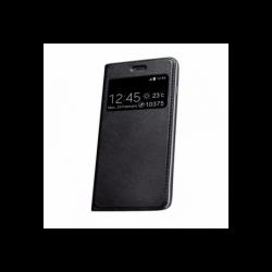 Husa MOTOROLA Moto E4 Plus - Smart Look Piele (Negru)