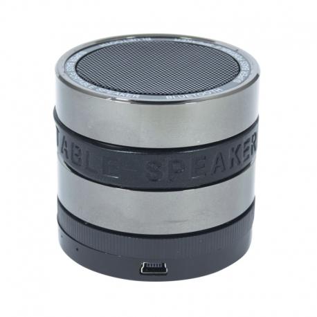 Boxa Portabila Bluetooth (Negru/Argintiu) BL-18