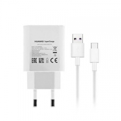 Incarcator Original HUAWEI Super Charge 5A + Cablu Tip C (Alb) HW-050450E00