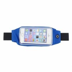 """Borseta telefon (max. 5.5"""") cu buzunar (Albastru)"""