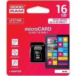 Card MicroSD 16GB (Clasa 10) GoodRam