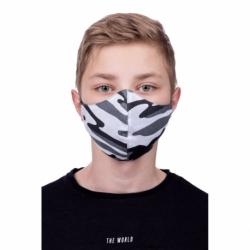 Masca De Protectie Pentru Copii (8-12 ani) (Camuflaj-Alb)