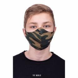Masca De Protectie Pentru Copii (8-12 ani) (Camuflaj-Negru)