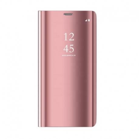 Husa SAMSUNG Galaxy A40 - Flip Wallet Clear (Roz)