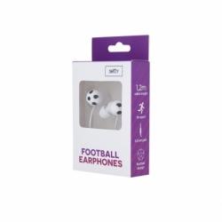Casti Telefon Football cu mufa Jack 3.5mm (Alb) Setty