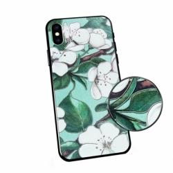 Husa SAMSUNG Galaxy A60 - Flowers 3D (Verde)