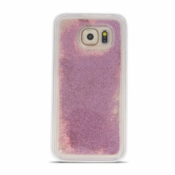 Husa SAMSUNG Galaxy A41 - Sclipici Lichid (Perle - Roz-Auriu)