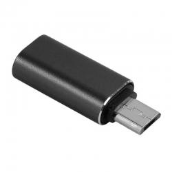 Adaptor MicroUSB - Lightning (Negru)