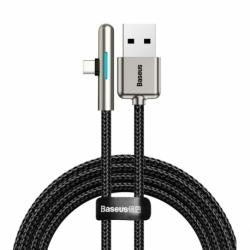 Cablu Date & Incarcare Textil Tip C 90 Grade 4A Huawei Super Charge (Negru) 1m BASEUS CAT7C-B01