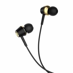 Casti Stereo cu Microfon - mufa Jack 3.5mm (Negru) HOCO M70