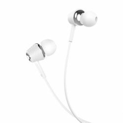 Casti Stereo cu Microfon - mufa Jack 3.5mm (Alb) HOCO M70