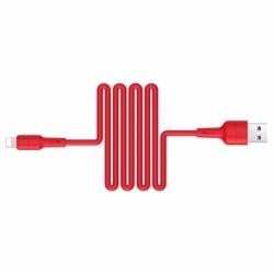 Cablu Date & Incarcare APPLE Lightning 2.4A (Rosu) 1 Metru Borofone Silicone BX30