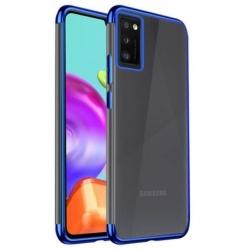 Husa SAMSUNG Galaxy A41 - Plating Soft (Albastru)