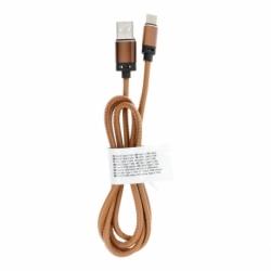 Cablu Date & Incarcare Piele Tip C 3.0 (Maro Deschis) C183 1m